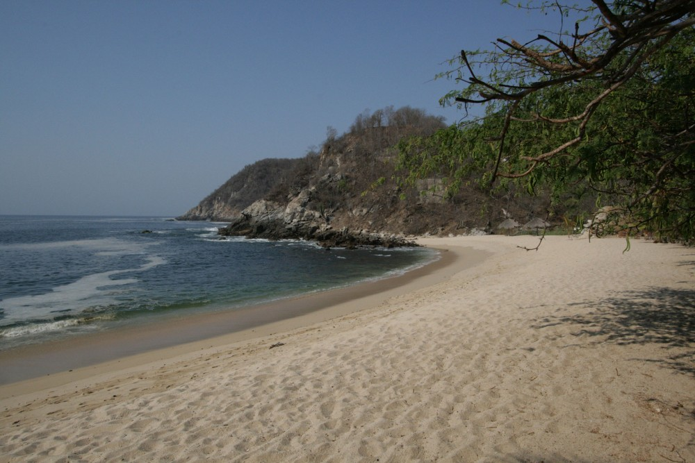 Bahia de la Luna, Oaxaca coast, the beach