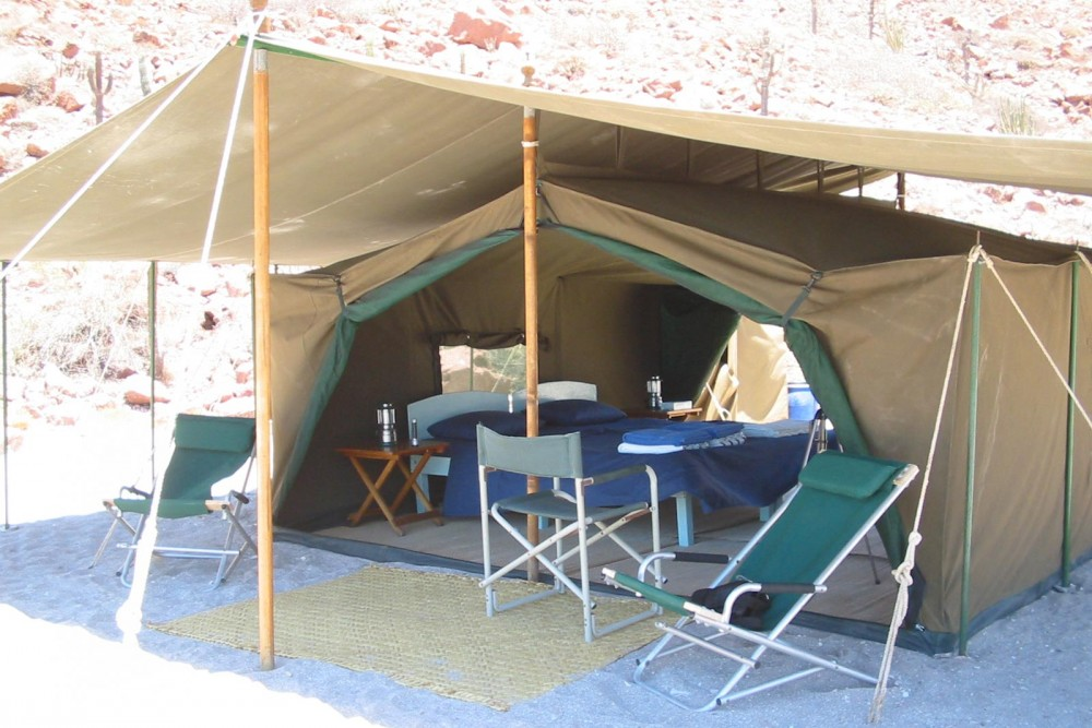 Baja Camp, isla Espiritu Santo, the tents