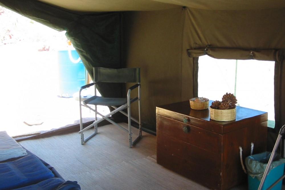 Baja Camp, isla Espiritu Santo, the tents