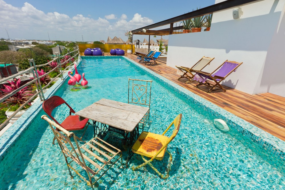 be playa, playa del carmen, the rooftop pool