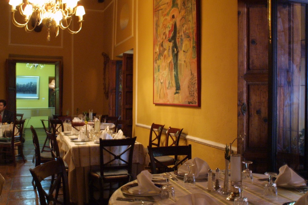 Casa de Sierra Nevada, San Miguel, the restaurant