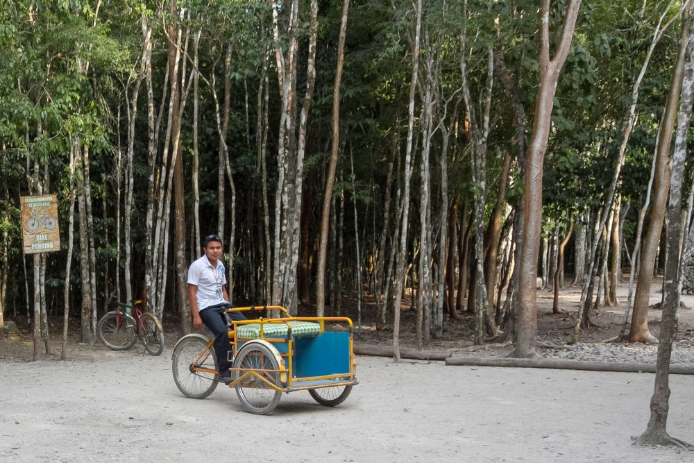 coba ruins, tricycle taxi
