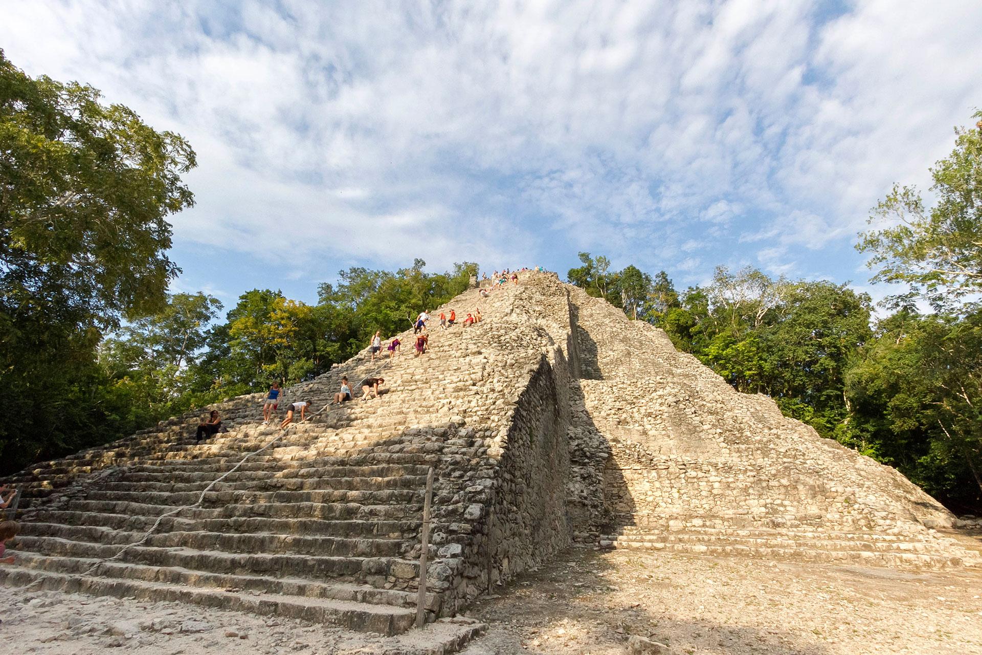 coba ruins, nohoch mul pyramid