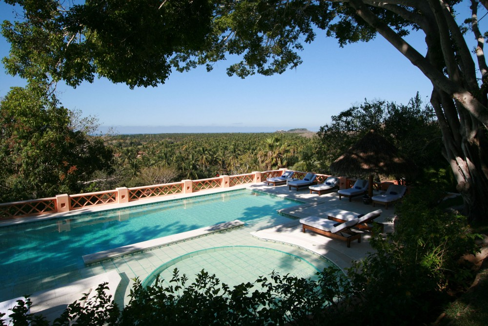 Cuixmala, Costa Careyes, the pool