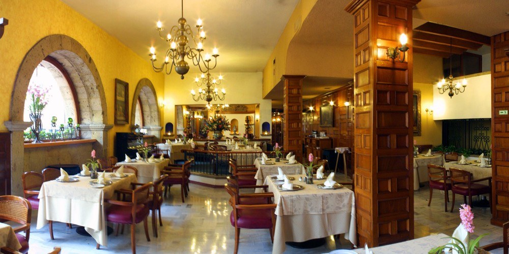 Hotel De Mendoza, Guadalajara, the restaurant