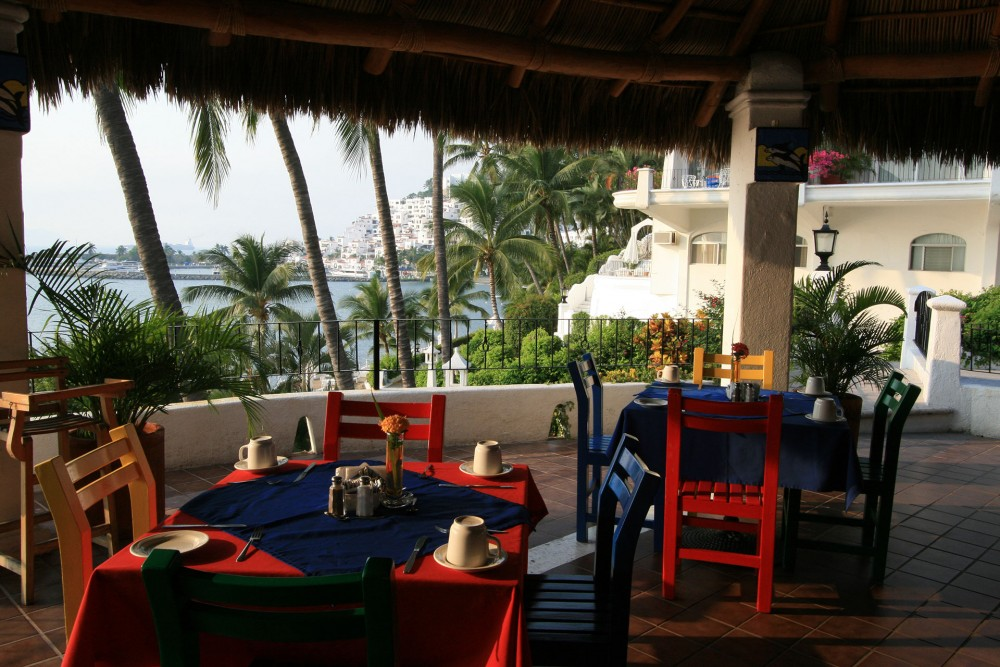 Dolphin Cove Inn, Manzanillo, the restaurant