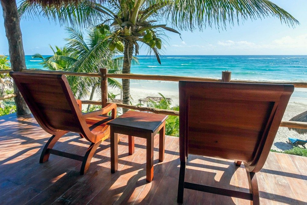 Encantada Tulum ocean front room, balcony