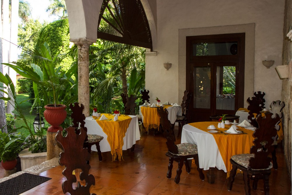 Hacienda Chichen, Chichen Itza, the restaurant