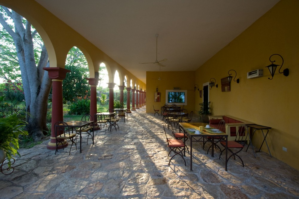 Hacienda Santa Cruz, near Merida, the restaurant