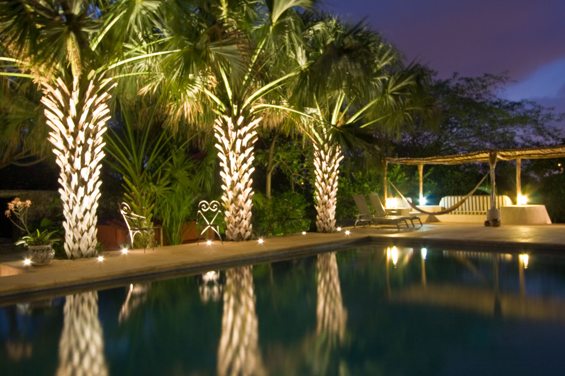 Hacienda Santa Cruz, near Merida, the pool