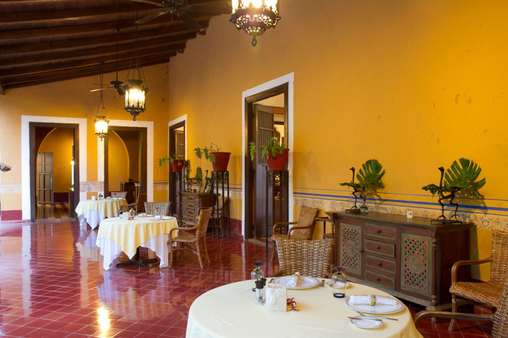 Hacienda Santa Rosa, Yucatan, the restaurant