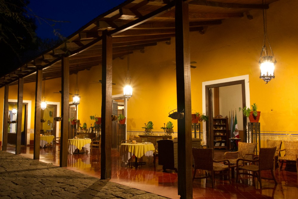 Hacienda Santa Rosa, Yucatan, the restaurant