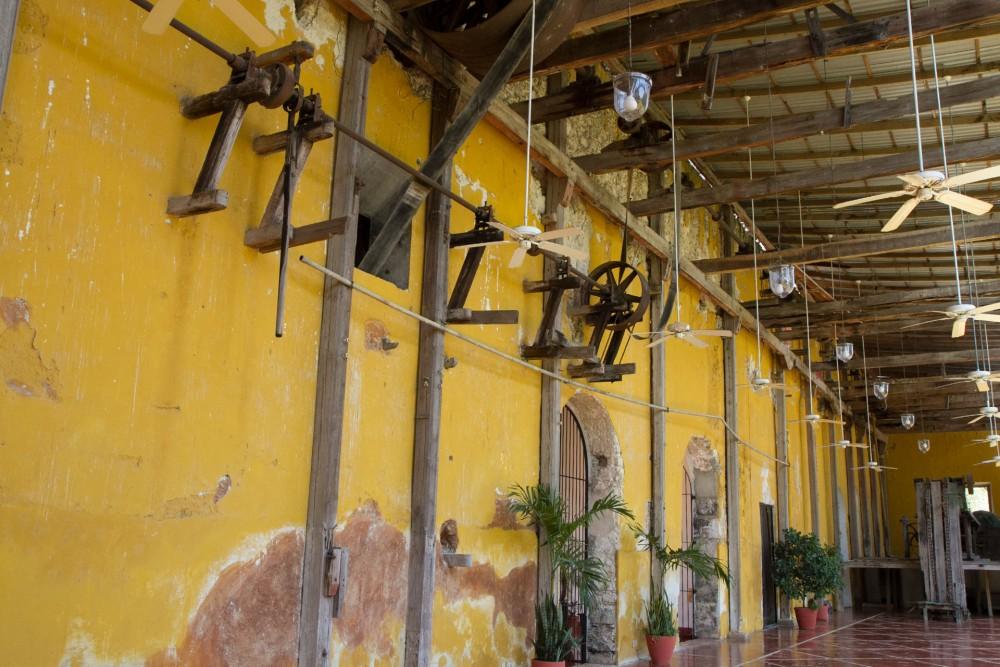 Hacienda Temozon, Yucatan, the old machine room