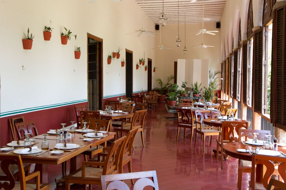 Hacienda Temozon, Yucatan, the restaurant