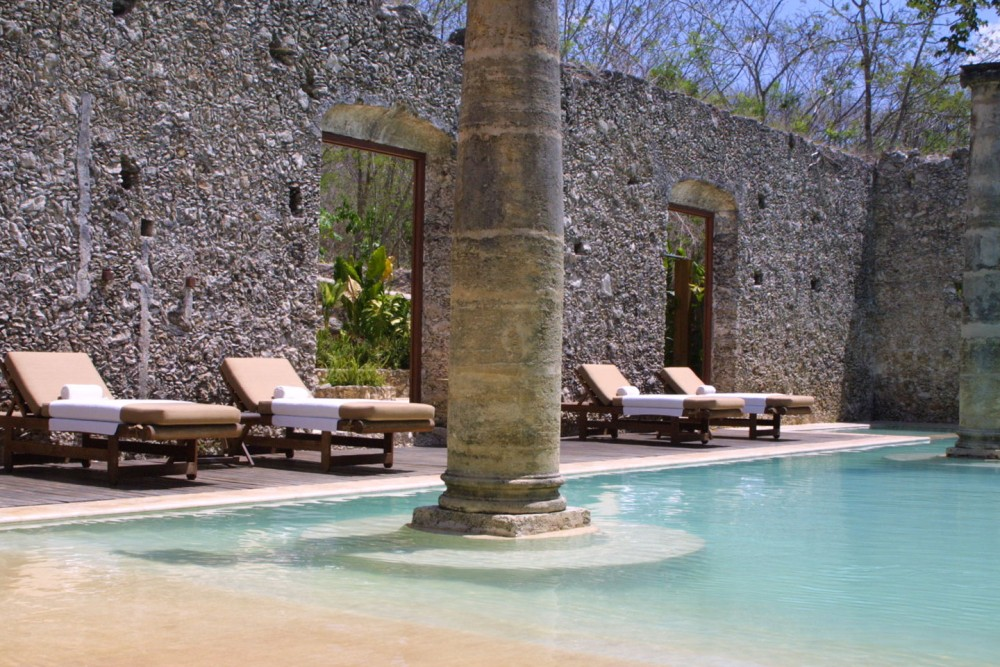 Hacienda Uayamon, Campeche, the pool