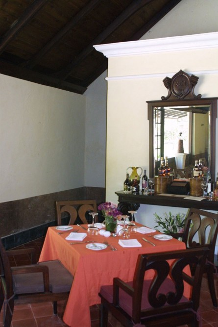 Hacienda Uayamon, Campeche, the restaurant