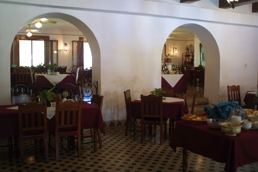 Hacienda Uxmal, the restaurant