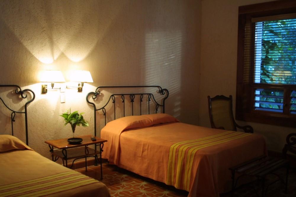 Hacienda Uxmal, a guest room