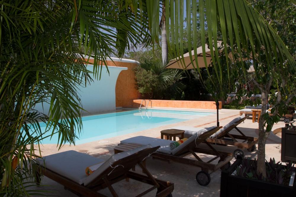 Hacienda Xcanatun, Merida, the pool