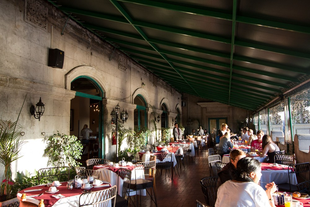 Hotel Majestic, Mexico City. the restaurant