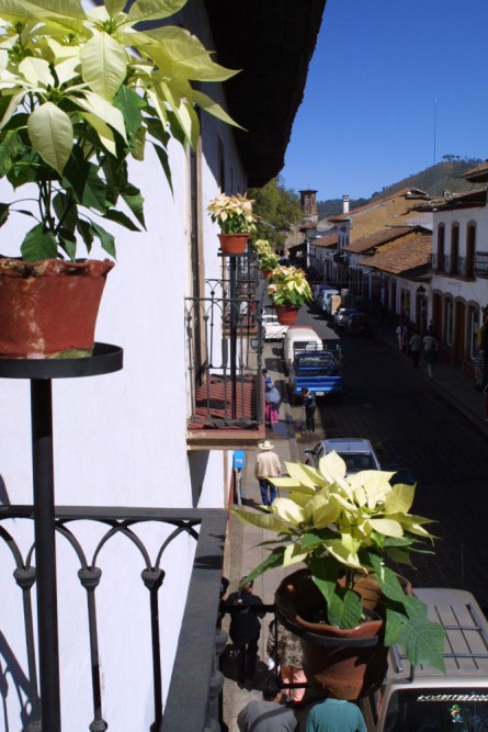 Mansion Iturbe, Patzcuaro, view from the hotel down the street