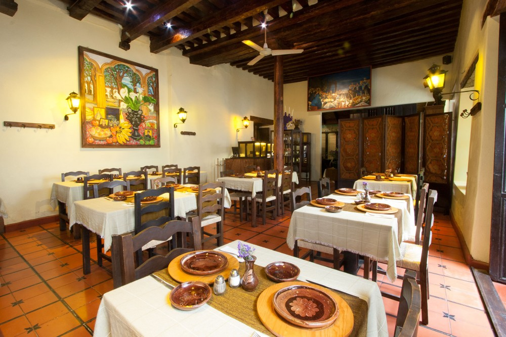 Mansion Iturbe, Patzcuaro, the restaurant