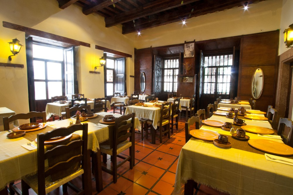Mansion Iturbe, Patzcuaro, the restaurant
