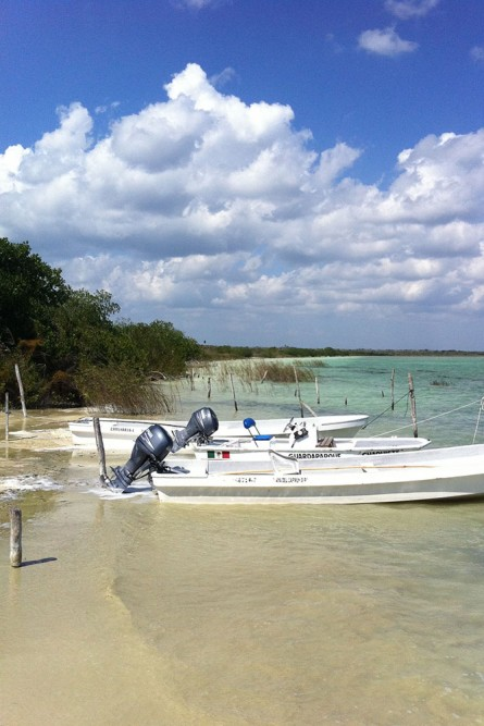 muyil ruins, the lagoon