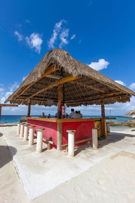 Playa Azul, Cozumel, the beach bar
