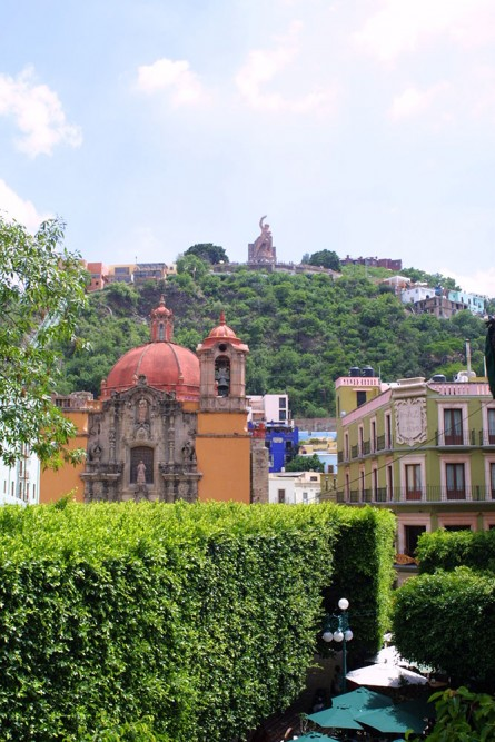 Guanajuato, view of el Pipila from Jardin de la Union