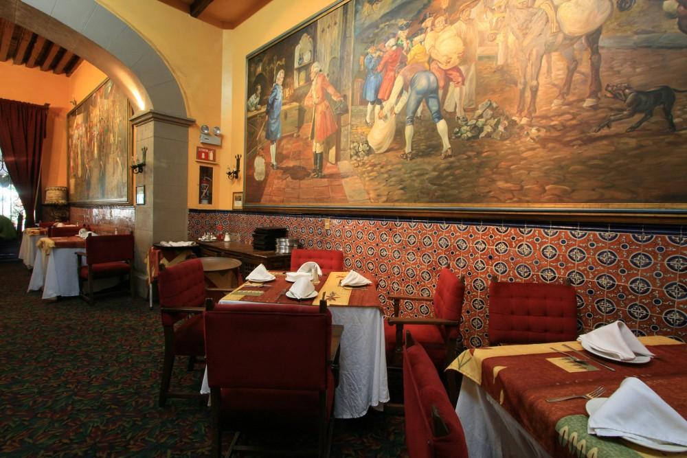 Posada Santa Fe, Guanajuato, the restaurant