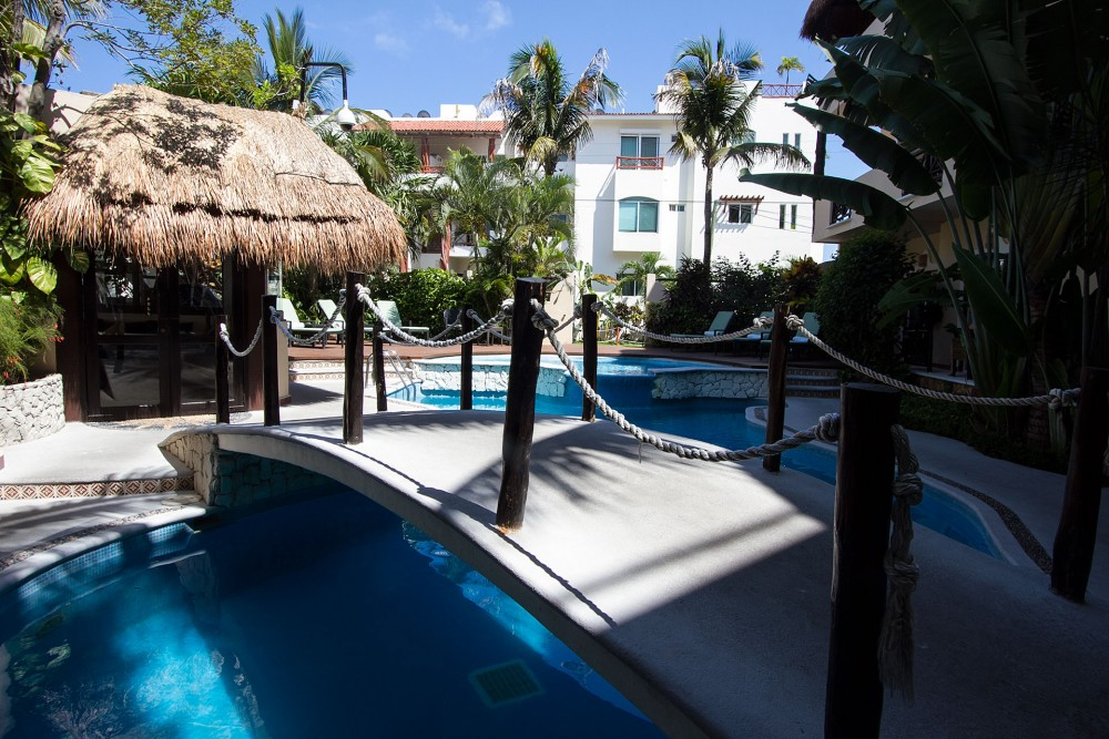 Riviera del Sol, Playa del Carmen. the pool