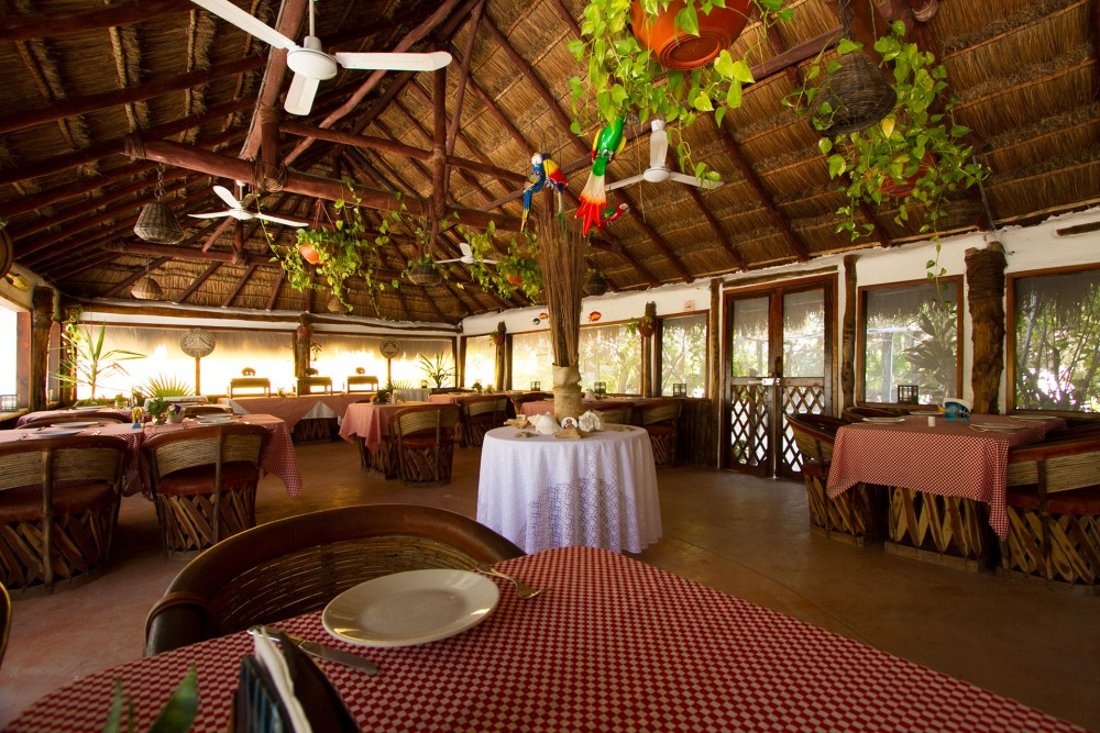 Villas Delfines, Holbox island, the restaurant